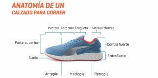 Conoce la anatomía de un calzado para correr