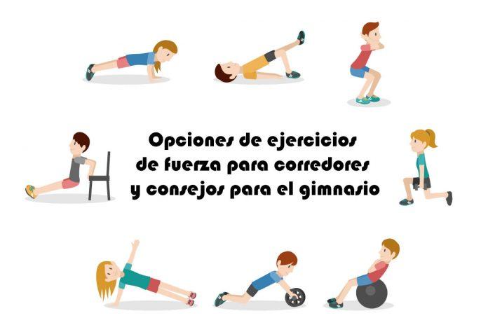 Opciones de ejercicios de fuerza para corredores y consejos para el gimnasio