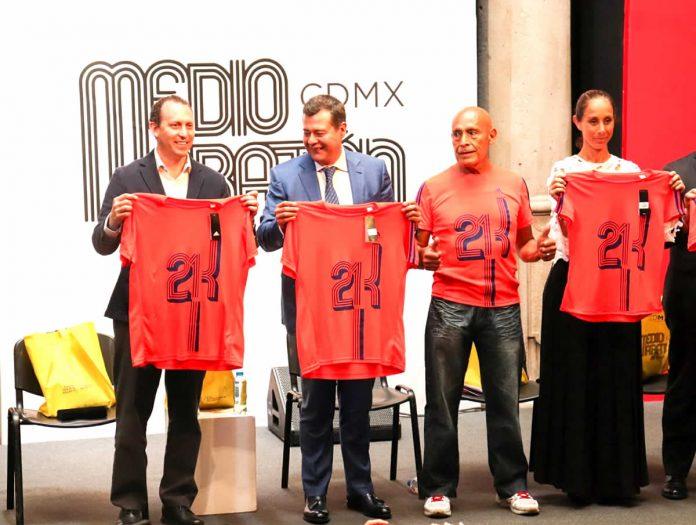 playera y medalla 21k medio maraton ciudad de mexico banorte