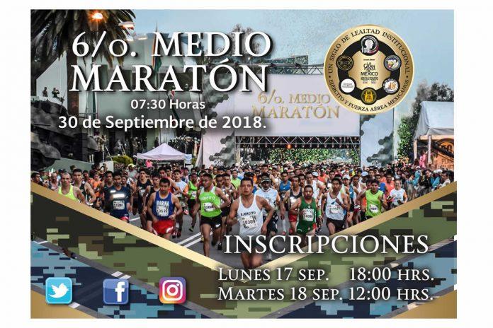 inscripciones medio maraton 21k sedena