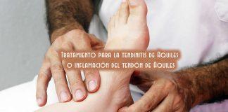 Tratamiento para la tendinitis de Aquiles o inflamación del tendón de Aquiles