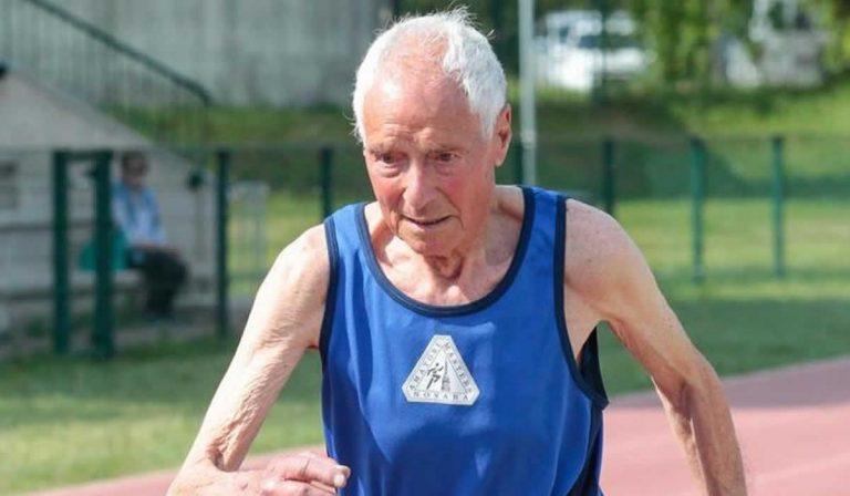 Nuevo récord del mundo en los 1,000 y 3,000 metros por Antonio Nacca de 95 años