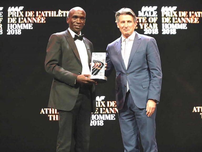 Eliud Kipchoge fue coronado como el atleta masculino del año por la IAAF