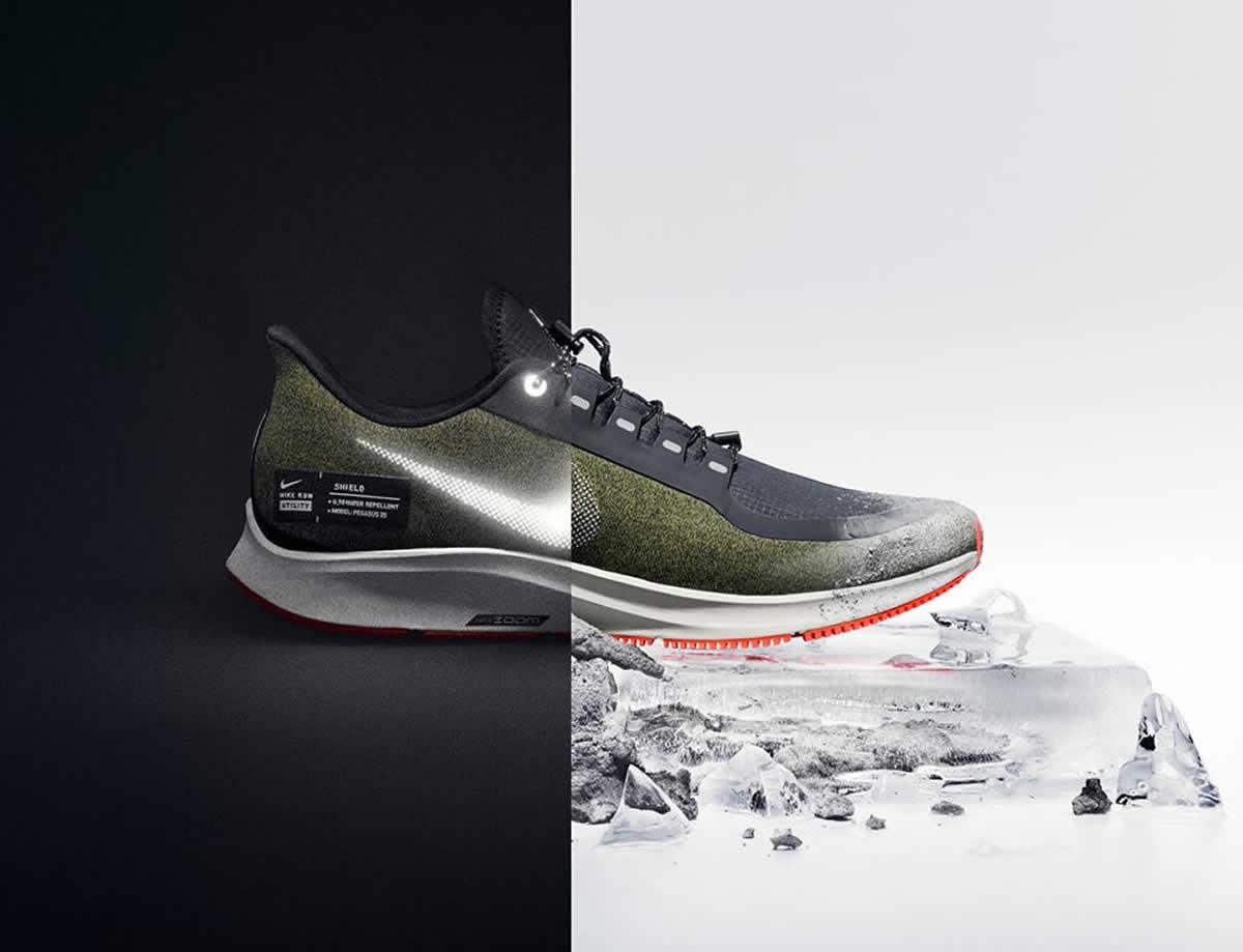 Conoce el nuevo Nike Air Zoom Pegasus 35 Shield Water ...
