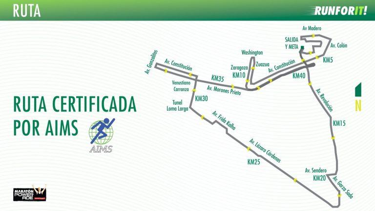 Ruta maratón monterrey 2018