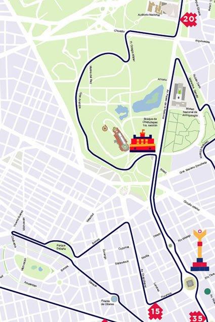 3 ruta maratón de la ciudad de México hasta kilómetro 5