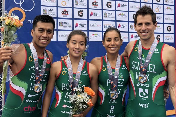 México plata en Relevos Mixtos en el Campeonato Panamericano de Triatlón