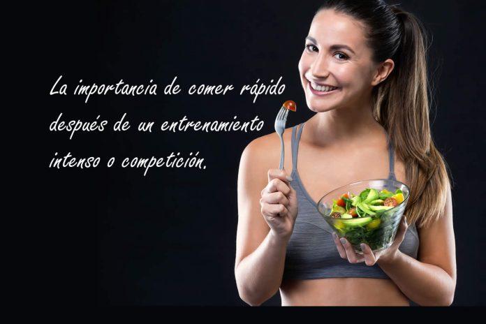 La importancia de comer rápido después de un entrenamiento intenso o competición.