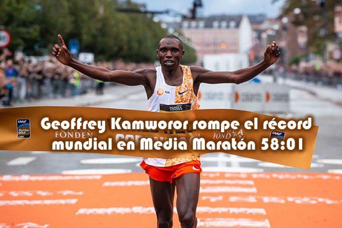 Geoffrey Kamworor rompe el récord mundial en la Media Maratón con 5801