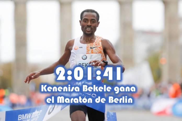 Kenenisa Bekele gana el Maratón de Berlin
