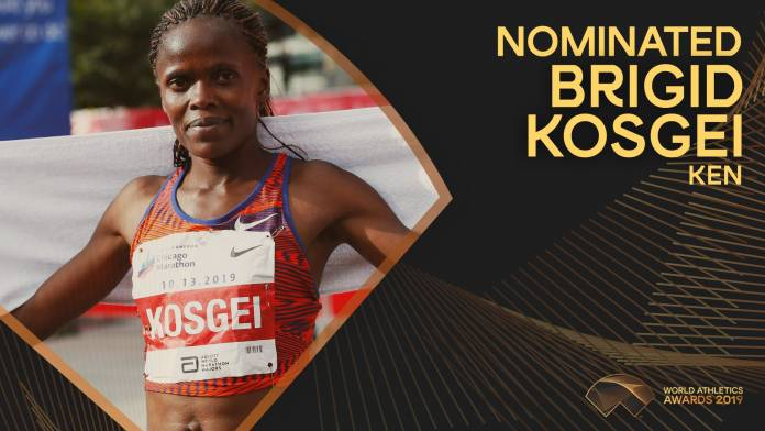 Brigid Kosgei, candidata para la atleta mundial femenina del año 2019