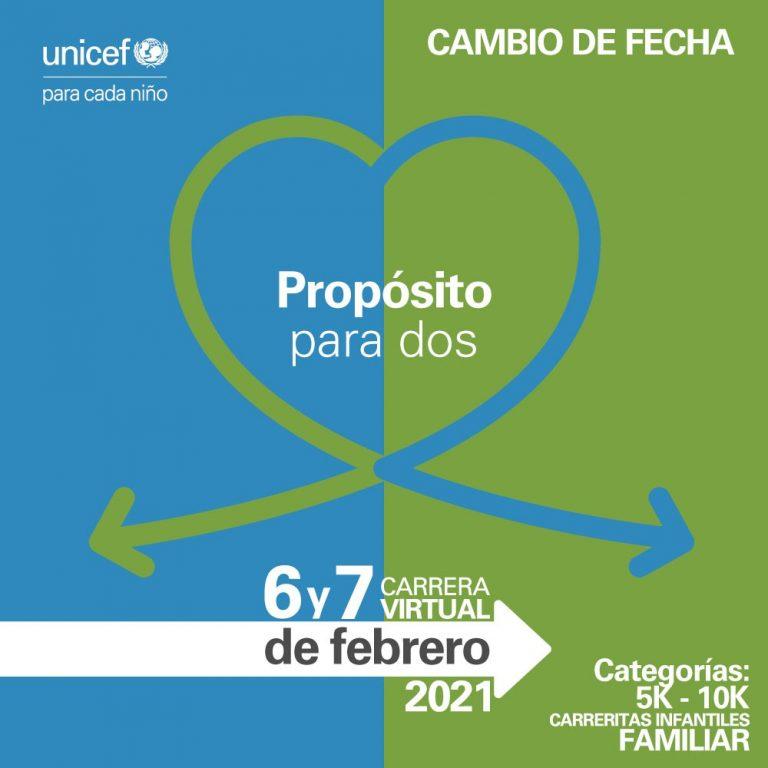 Corre con causa en la Carrera virtual Propósito para dos de UNICEF