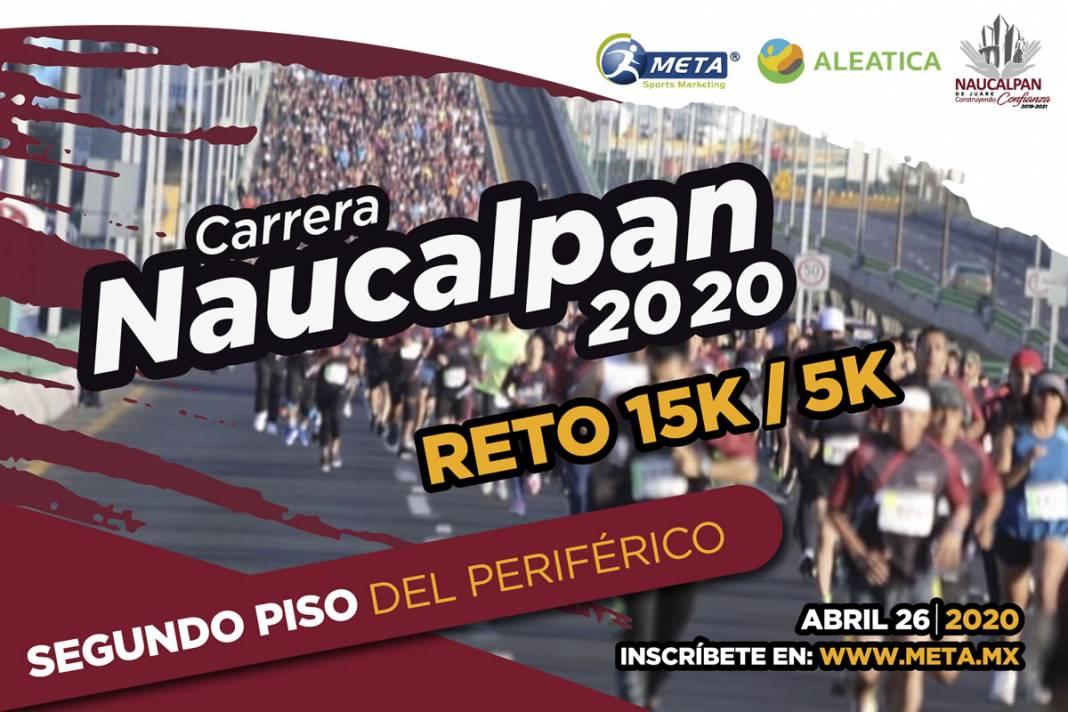 Reto 15k Naucalpan acepta el reto de correr en el segundo piso de Périferico