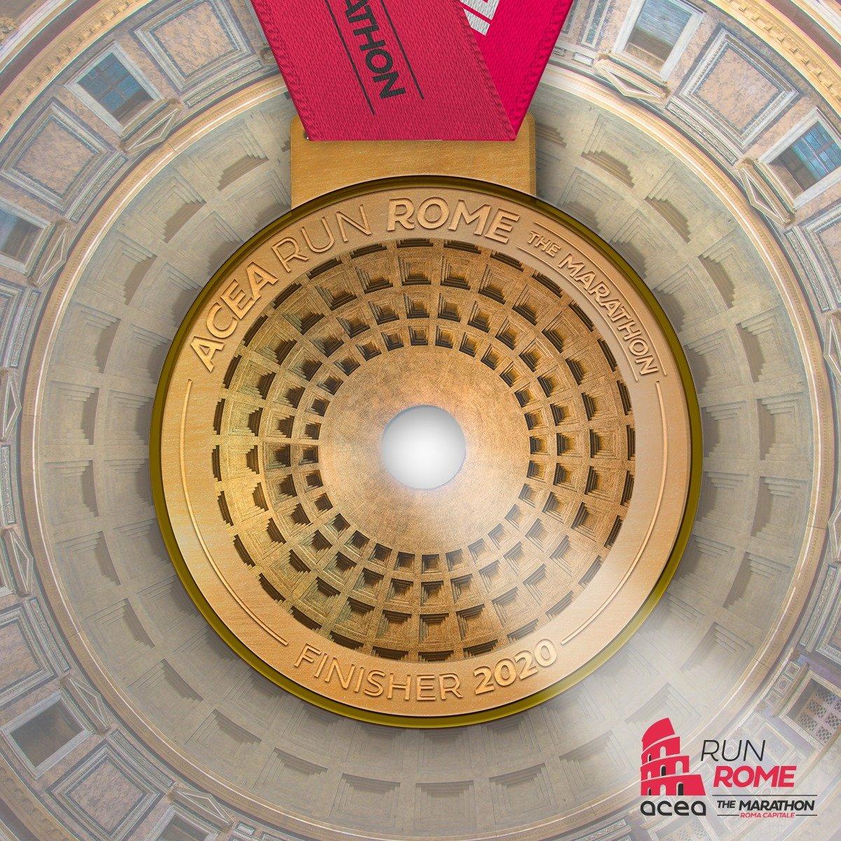 medalla maraton de roma.