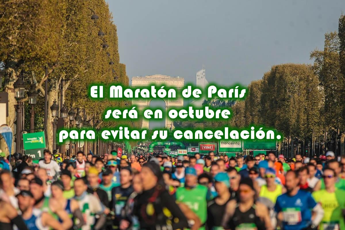 El Maratón de París será en octubre para evitar su cancelación