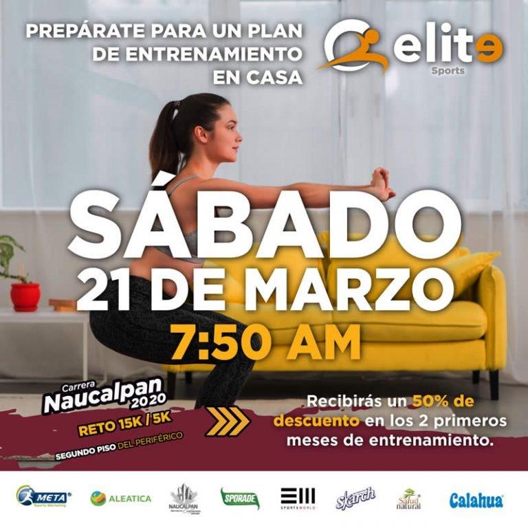 Entrenamiento en línea rumbo a la Carrera Naucalpan Reto 15K/5K