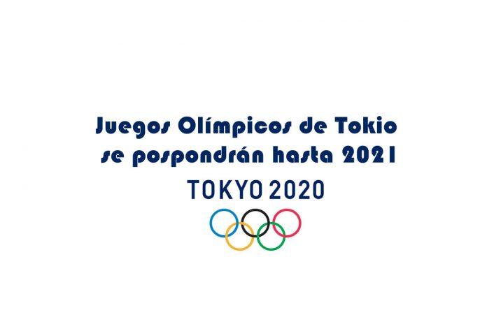 Juegos Olímpicos de Tokio se pospondrán hasta 2021