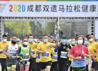 Primer carrera en China después del coronavirus