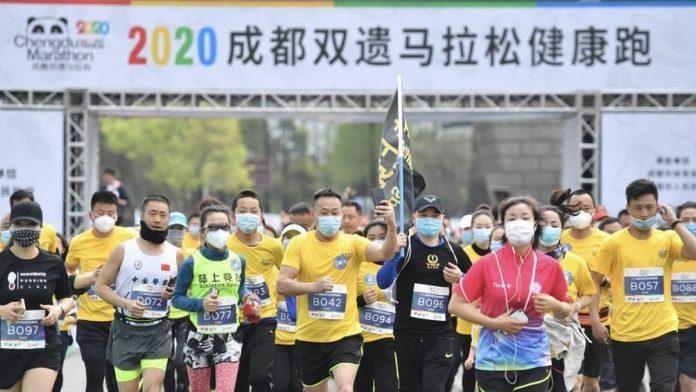 Primer carrera en China después del coronavirus