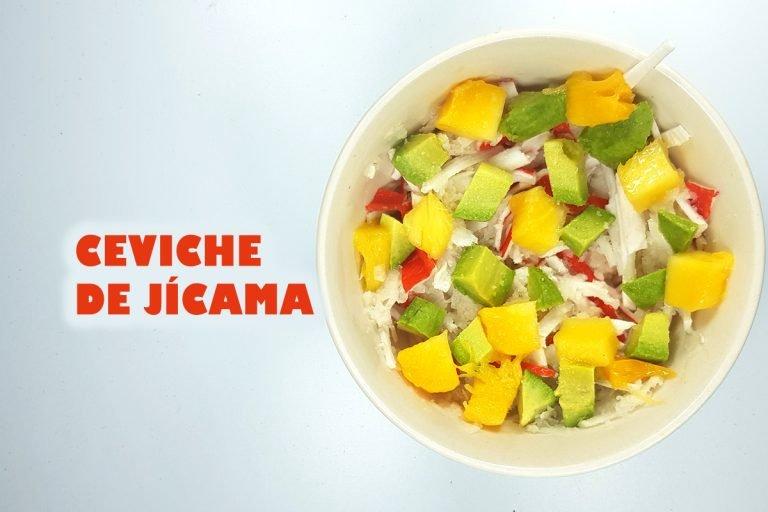 Ceviche de Jícama, delicioso y una opción muy sana