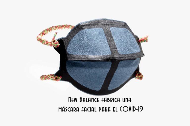 New Balance fabrica una mascarilla facial para el COVID-19