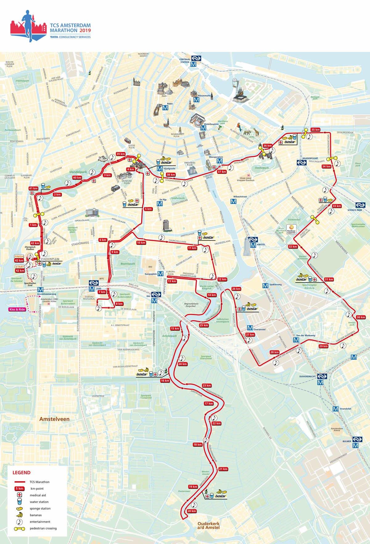 Ruta TCS Amsterdam Marathon