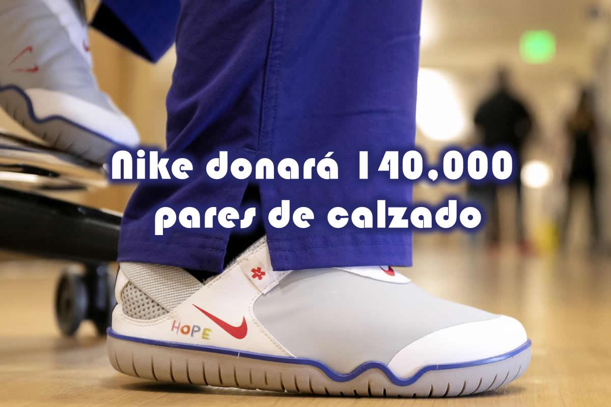 Nike dona 140000 pares de calzado