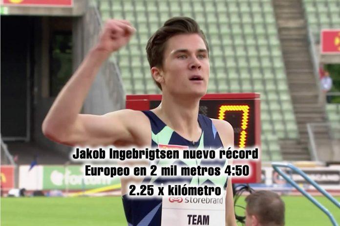 Jakob Ingebrigtsen récord 2 mil metros