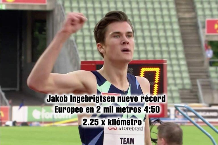 Jakob Ingebrigtsen nuevo récord Europeo en 2 mil metros 4:50