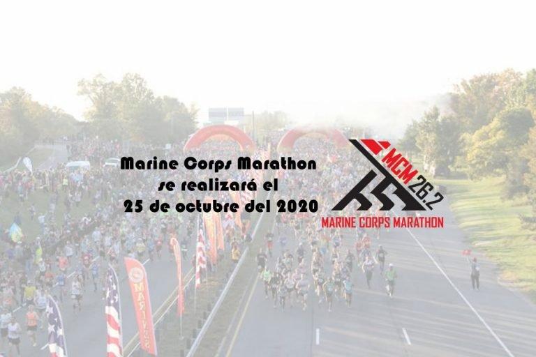Marine Corps Marathon se realizará el 25 de octubre del 2020