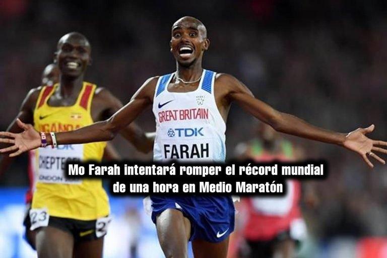 Mo Farah intentará romper el récord mundial de una hora en 21,285 km en pista