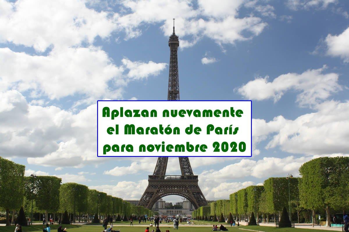 Aplazan nuevamente el Maratón de París para noviembre 2020