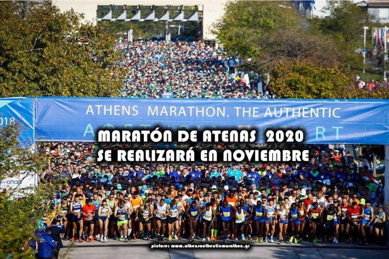 MARATÓN DE ATENAS 2020 SE REALIZARÁ EN NOVIEMBRE