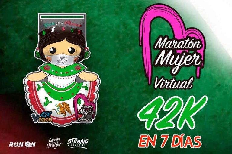 Gana una bella medalla en el Maratón Mujer Virtual 2020