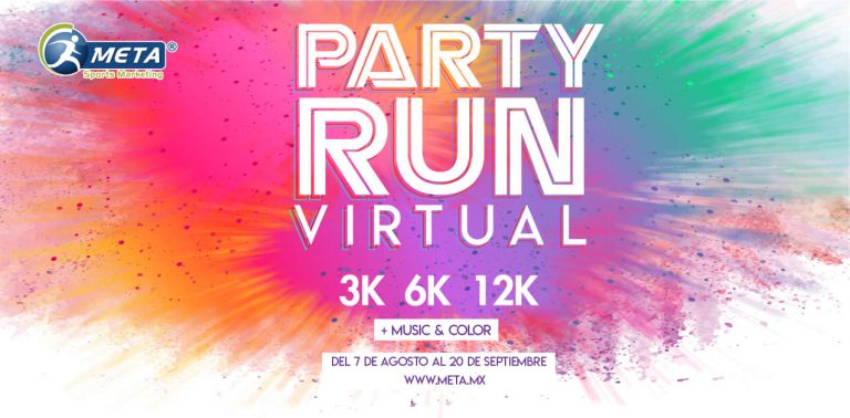 Llega una explosión de color con Party Run Virtual 2020 3k, 6k y 12K