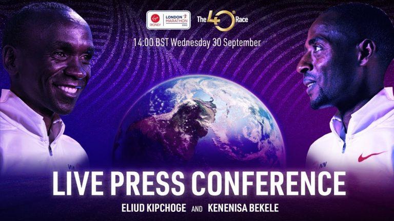 Conferencia de prensa de Kipchoge vs Bekele rumbo al Maratón de Londres 2020