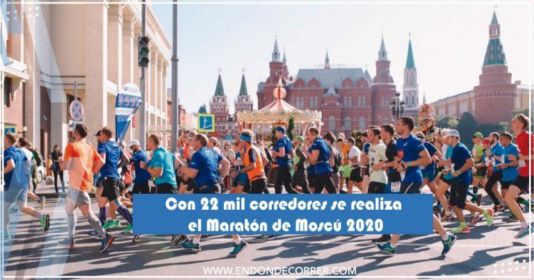 Con 22 mil corredores se realiza el Maratón de Moscú 2020