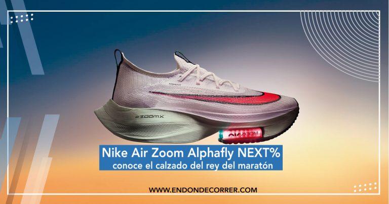 Nike Air Zoom Alphafly NEXT% conoce el calzado del rey del maratón