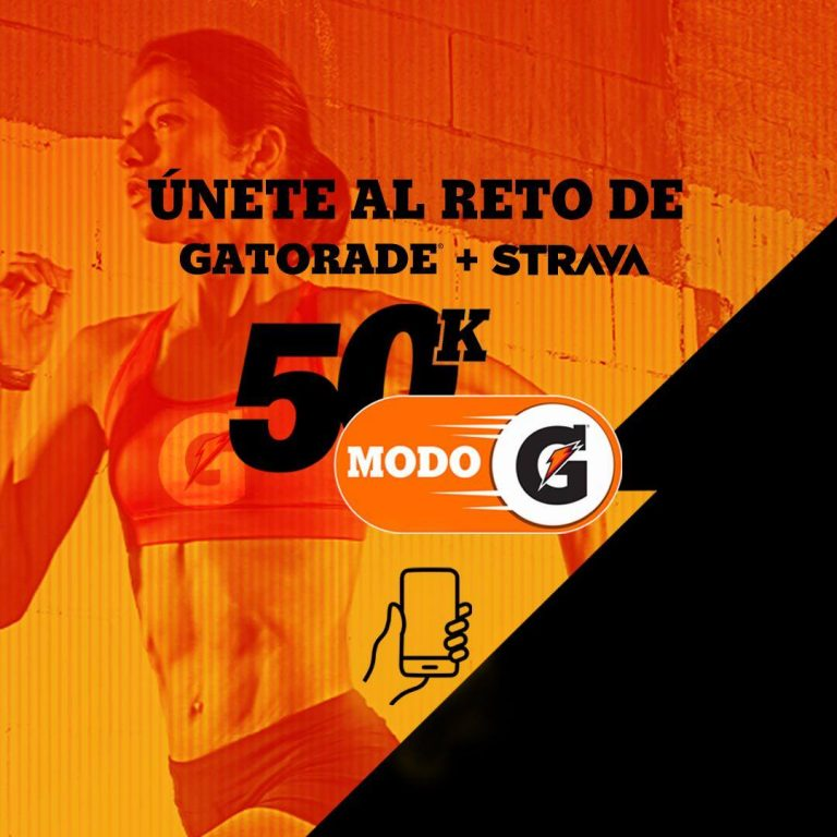 Reto 50K Gatorade en Strava, corre en un mes 50 kilómetros