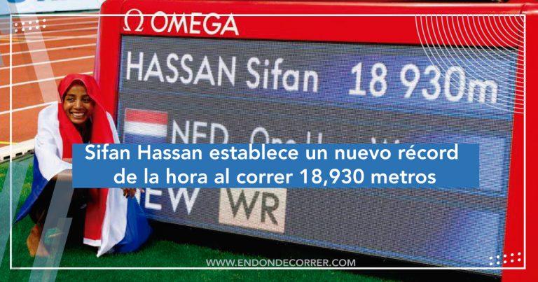 Sifan Hassan establece un nuevo récord de la hora al correr 18,930 metros