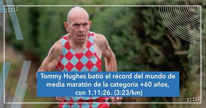 Tommy Hughes batió el récord del mundo de media maratón