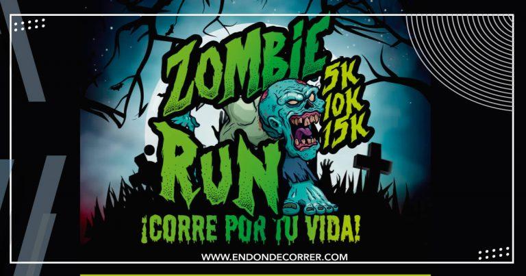 Playera y medalla ZOMBIE RUN 5k 10k & 15k corre por tu vida