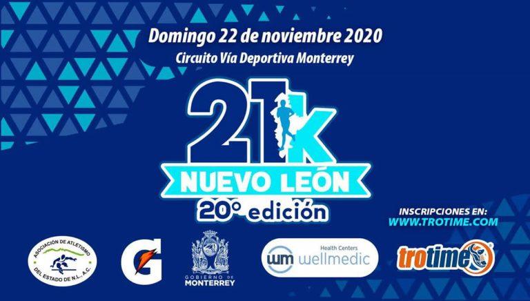 Se realizará el 21k Nuevo León de manera presencial en Noviembre.