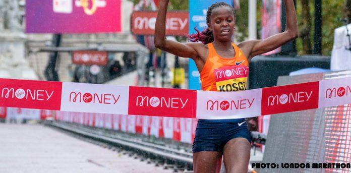 Brigid Kosgei gana el primer lugar femenil en el Maratón de Londres