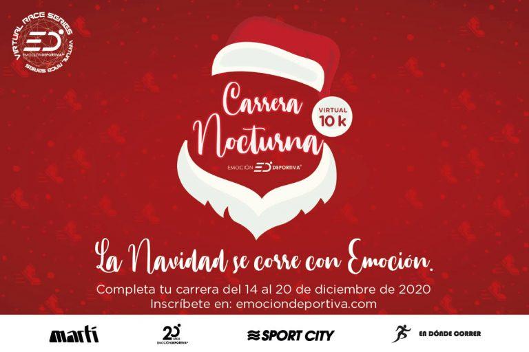 Celebra la navidad en la Carrera Virtual Nocturna  10k