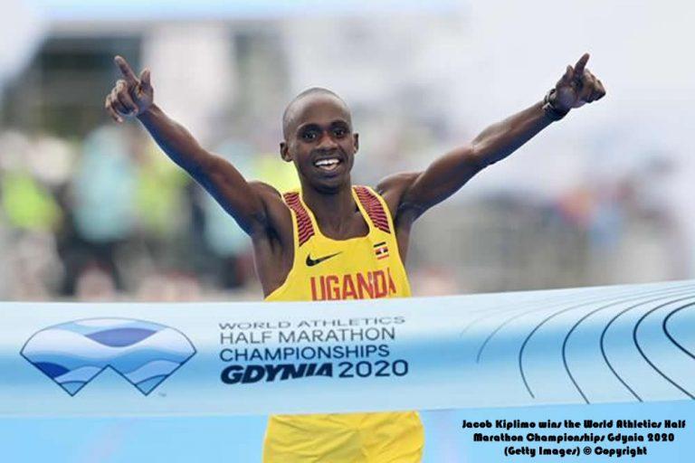 Jacob Kiplimo gana el Campeonato Mundial de Medio Maratón de Atletismo Gdynia 2020
