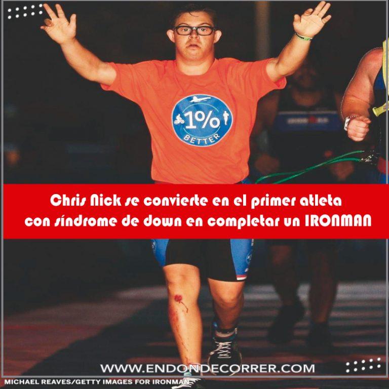 Chris Nick se convierte en el primer atleta con síndrome de down en completar un IronMan