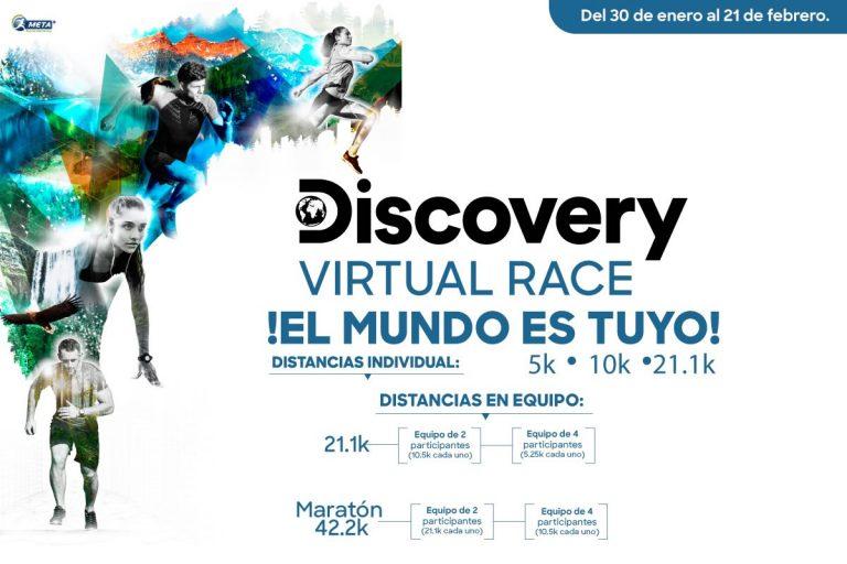 Corre Discovery Race 2021 una experiencia virtual en equipo o individual