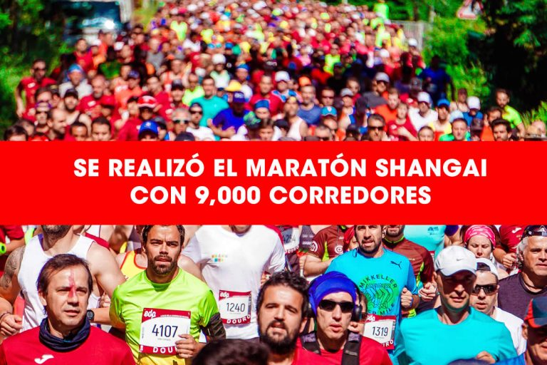 Se realizó el Maratón Shangai con 9 mil corredores