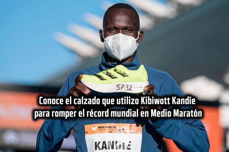 Conoce el calzado que utilizo Kibiwott Kandie para romper el récord mundial en Medio Maratón